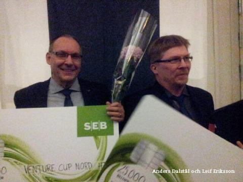 Både bergbulten och taxisystemet från ABI blev vinnare i Venture Cup Nords regionfinal