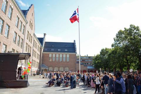 Fagerborg skole har blitt omgjort fra videregående skole til ungdomsskole.
