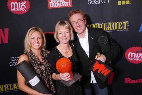 2011-12-01 - Husqvarna vinner årets 100-wattare i kategorin Internationell Reklam