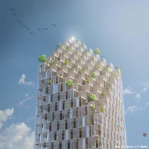 Höga byggnader i trä – en konceptstudie
