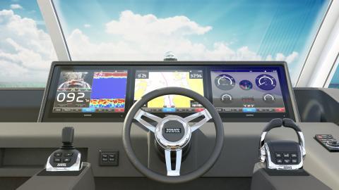 Garmin® och Volvo Penta fortsätter sitt samarbete och uppdaterar glasskärmssystemet med nya GPSMAP 8600 multifunktionsdisplayer