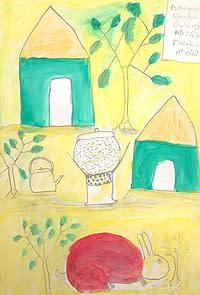 Teckningar stärker barns självförtroende - Barn i Mali målar sin vardag