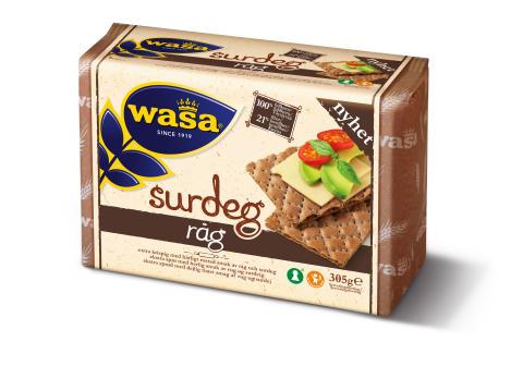 Nyhet från Wasa: Surdeg Råg – för dig som inte kan få nog av surdeg.