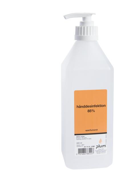 Hånddesinfektion 85 % flydende 600 ml