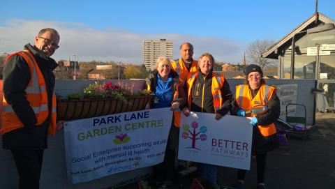 Aston station adoption planting project helps local people grow