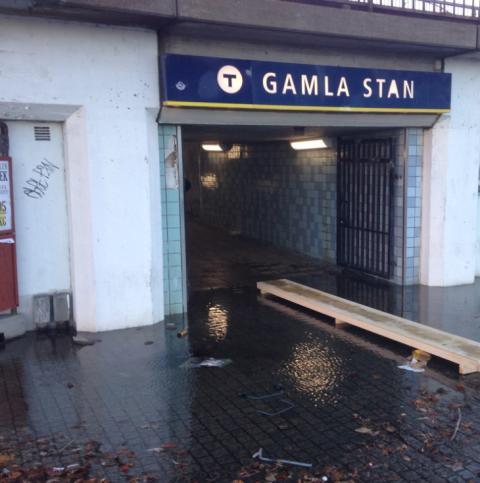 MP kräver omedelbar uppföljning av översvämningsrisker i Stockholms tunnlar