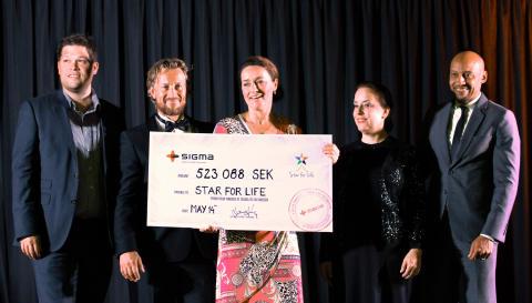 En halv miljon till Star for Life efter anställdas dagsverke