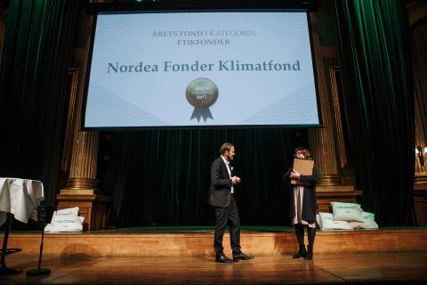 Årets Etikfond 2017 - Nordea Fonder Klimatfond