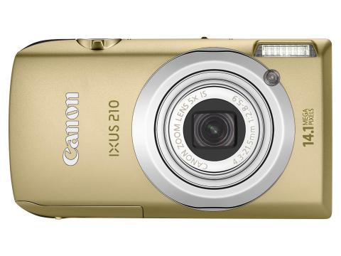 Ixus 210 Gold Front