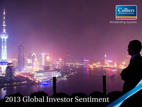Colliers International rapporterar om en positiv syn bland investerare globalt