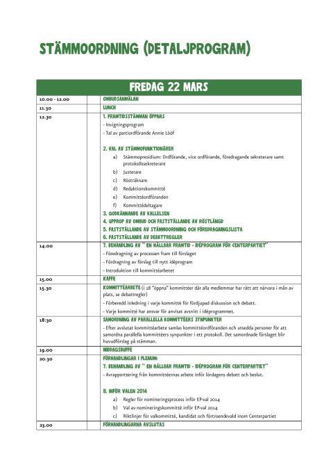 Detaljprogram