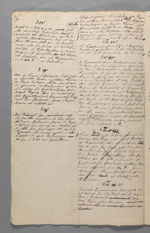 Konstitusjonskomiteens første grunnlovsutkast Eidsvoll 1814