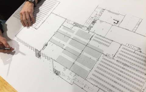 Kungsbacka DC - ritning av lagret