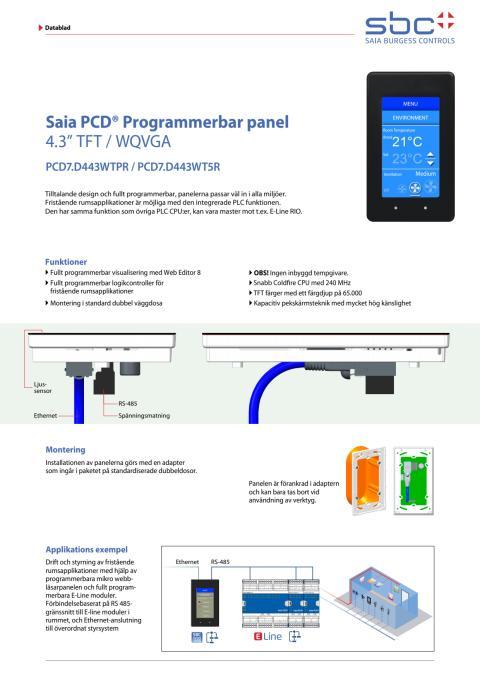 Programmerbar panel Saia PCD7.D433WT5R
