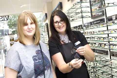 Cheltenham eye cancer teen helps Vision Express unveil new High Street store