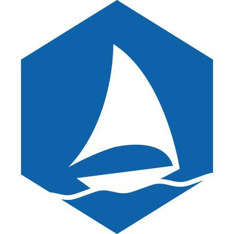 Graphene flagship boat logo blue