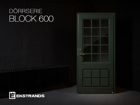 Ekstrands presenterar ytterdörren Block 600