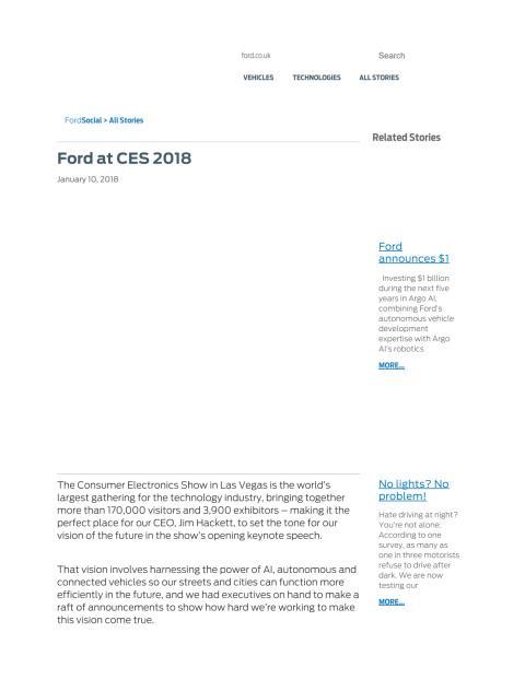Ford på CES 2018