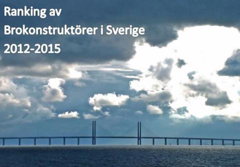Ranking av de mest aktiva brokonstruktörerna i Sverige 2012-2015 enligt Sverige Bygger