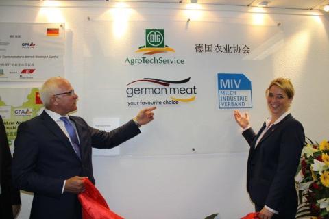 Deutsche Milchindustrie und Fleischwirtschaft eröffnen Büro in Peking