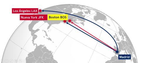 Norwegian unirá Madrid y Boston