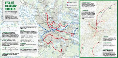 Nya SL-linjer och hälsocentraler - grönt valmanifest för landstinget