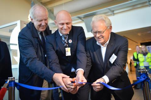 Invigning av nya utrikeslinjen Tallinn - Bromma