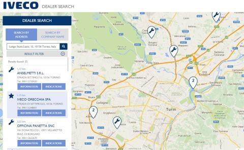 """Iveco findes over hele verden med den nye dealer locator"""""""