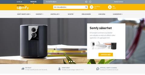 Somfy Shop Sverige lanserar ny uppdaterad hemsida för sin e-handel