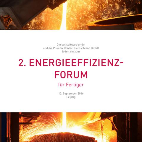 Energieeffizienz-Forum für Fertiger _ Veranstaltungsflyer
