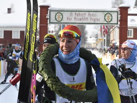 Katerina Smutná won the 30th Tjejvasan
