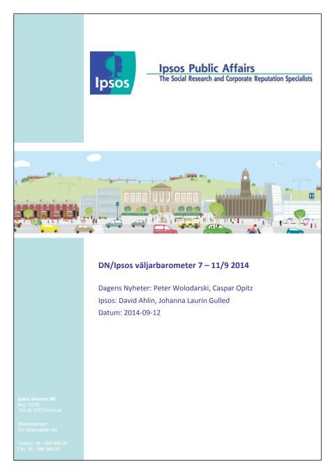 DN/Ipsos väljarbarometer 12 september - Sista mätningen inför söndagens val