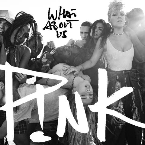 """P!NK - """"What About Us"""" singelomslag"""
