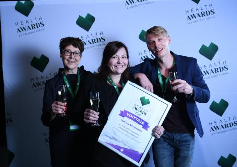 Aivoliiton Korvaamaton kovalevy -kampanja on Health Awards 2018 -kilpailun Vuoden Terveysteko