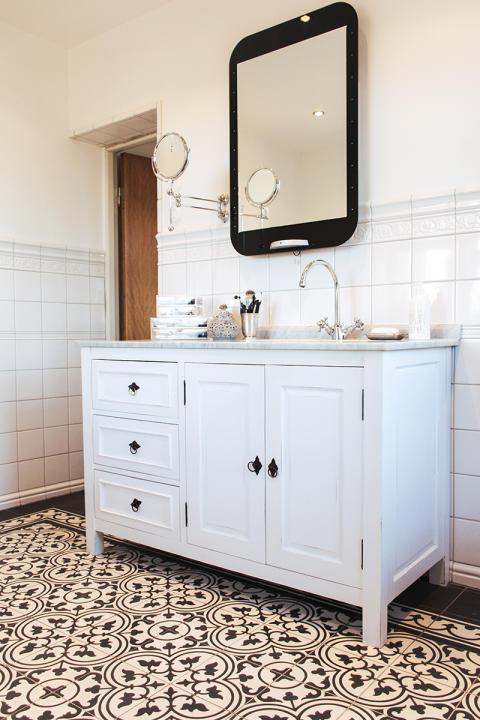 Nytt badrum i gammal stil i huset från 1912