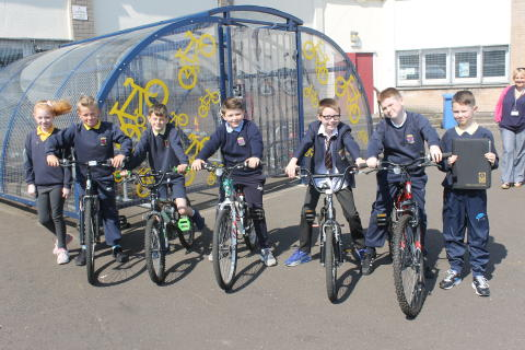 Balornock Primary pupils