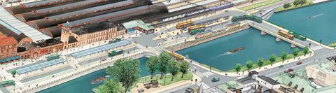 Ny cykelbana vid Centralplan byggs, cykelparkeringen flyttas