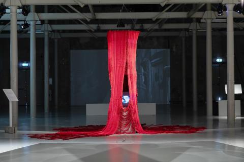 Installation view / installationsbild Nine Month Circle, 2009-2012, Yasmin Jahan Nupur, Delta & Sediment Färgfabriken 2019 Yasmin Jahan Nupur