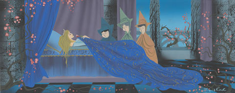 Sleeping Beauty, Eyvind Earle (1959) © Disney / Graphite and gouache on illustration board