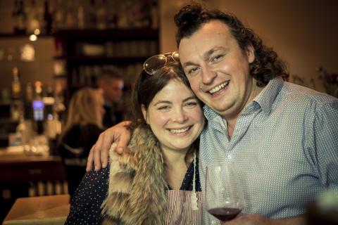 Thüringer Spitzenköchin Maria Groß und der Grillprofi Matthias Steube in ihrem Restaurant Bachstelze in Erfurt