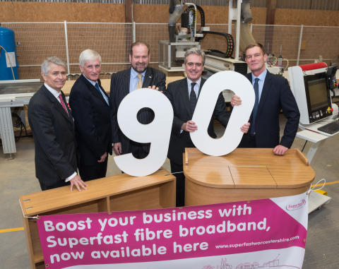 Superfast Worcestershire races towards target of 90 per cent of county businesses able to access faster fibre broadband