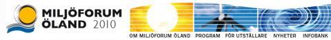 Miljöforum Öland 2010