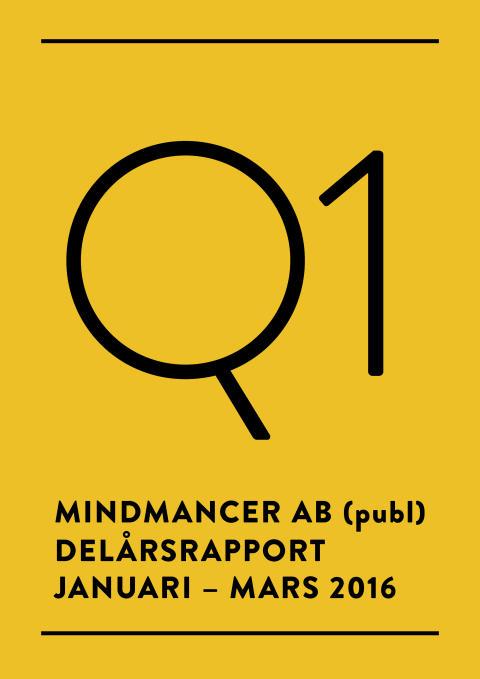 Delårsrapport för Mindmancer AB (publ) Q1 2016
