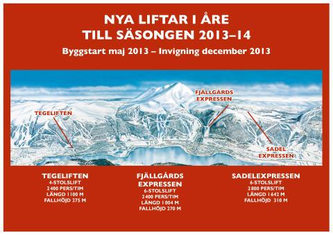 SkiStar Åre: Tre nya stolliftar i Åre