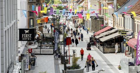 Halmstads centrum är attraktivt visar ny handelsutredning
