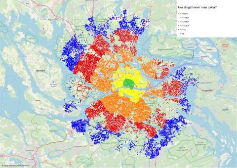 Cykelpotential i Stockholm