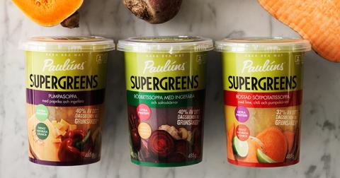 Paulúns Supergreens – färgstarka soppor laddade med supergrönsaker