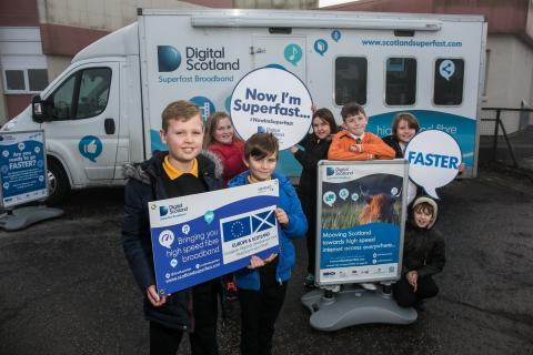 ​More West Lothian pupils get a lesson with fibre broadband