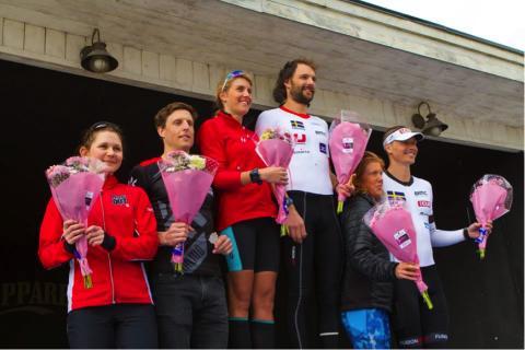 Sara Svensk och Fredrik Bäckson svenska mästare i duathlon
