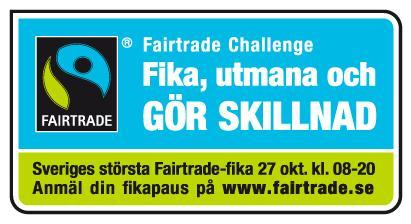 Linköpingbor deltar i rekordstor fika för att sätta fokus på Fairtrade